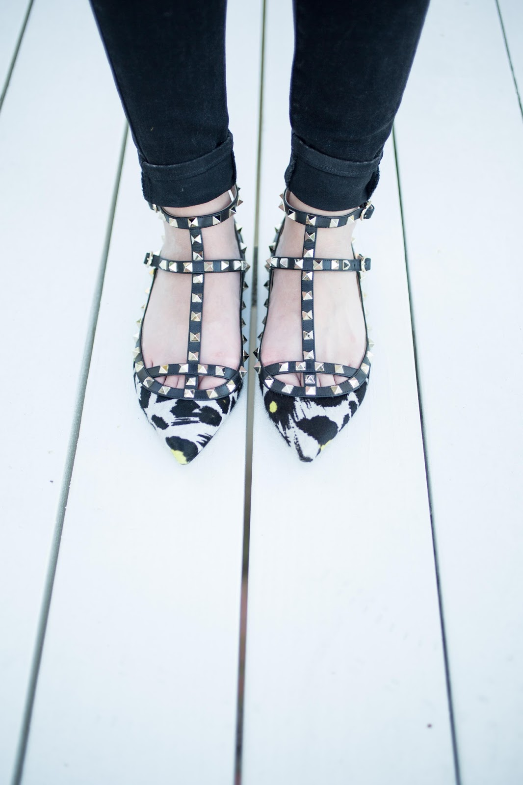 Valentino Calfhair Rockstuds