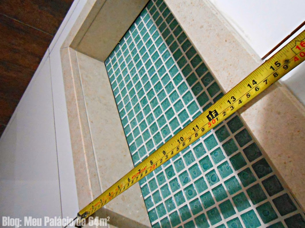 Meu Palácio de 64m²: Nicho do banheiro (em detalhes) #B59316 1061 793
