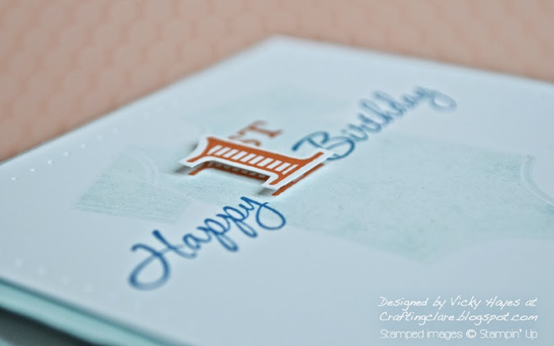How to pop up an image using dimensionals with UK independent Stampin' Up demonstrator Vicky Hayes