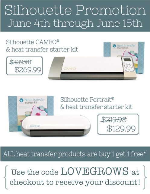 Silhouette Heat Transfer Promotion June 2013
