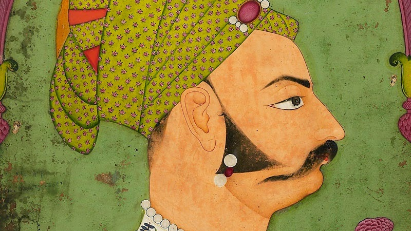 Cameo profile of Maharaja Bakhat Singh from an Indian painting.