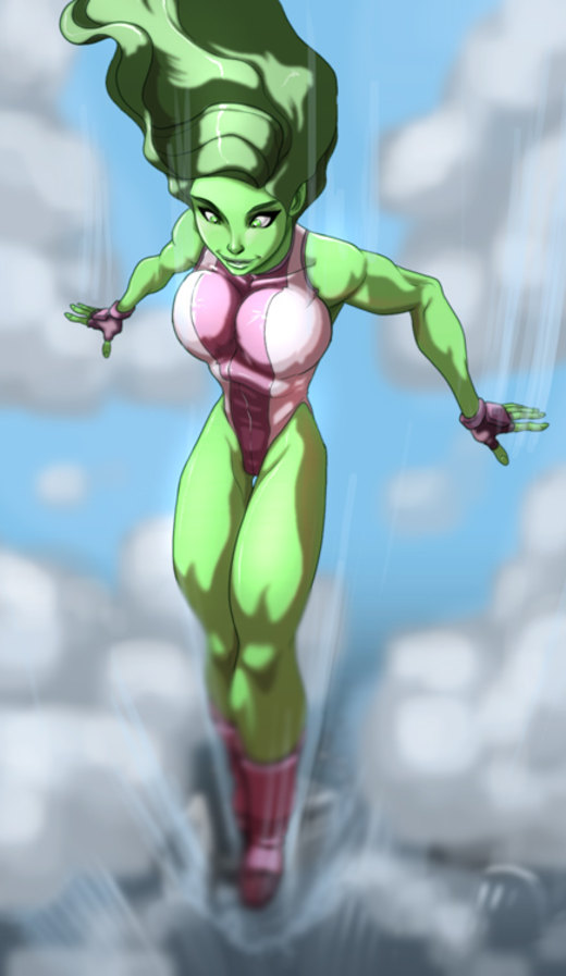 She-Hulk is falling for you por MatthewRHumphreys