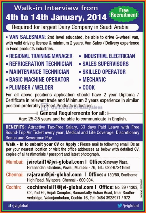 Free recruitment for largest dairy company ksa gulf jobs - Kuwait airways mumbai office contact number ...