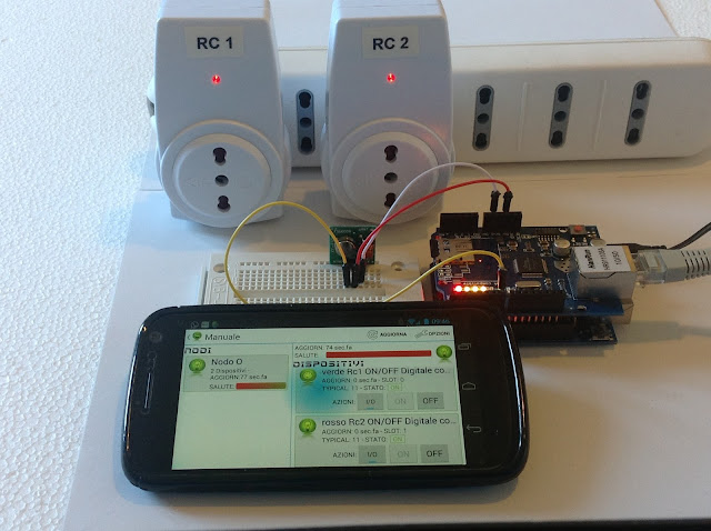 arduino, souliss, rf socket, rf power socket, 433 mhz, 315 mhz, android