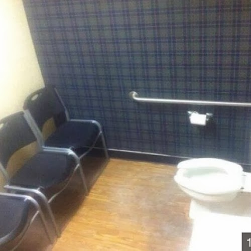 a toilet with an audience of three, definitely on the list of sochi problems during the winter olympics