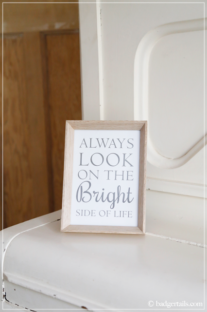 Always Look on The Bright Side of Life Sign on Piano