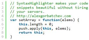 add syntax highlighter