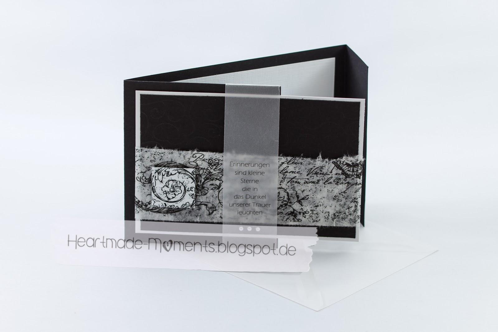 Kondolenzkarte »Erinnerungen«
