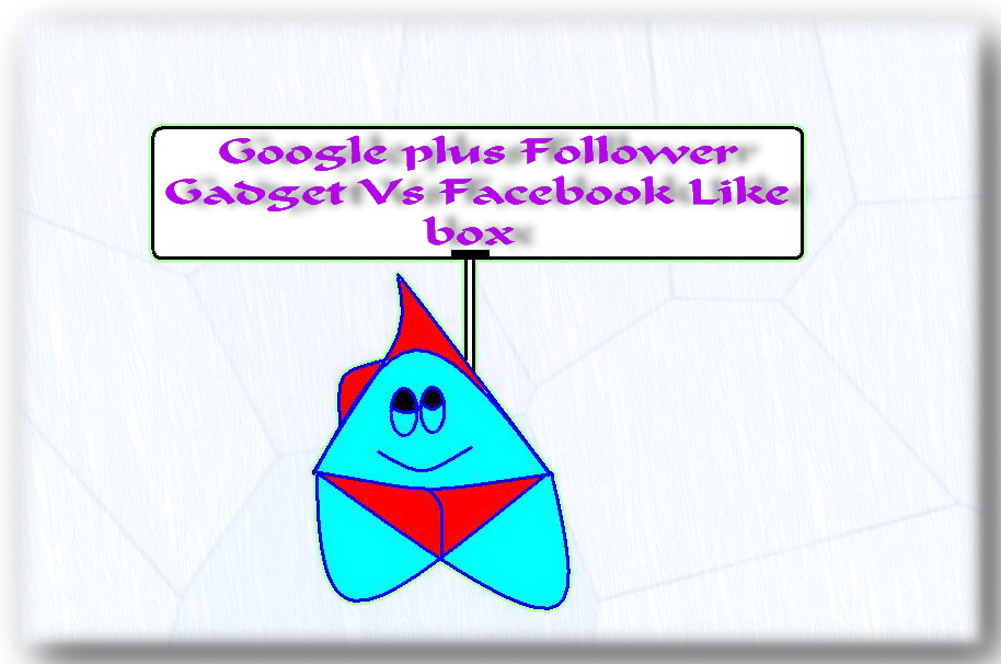 Google + Follower Gadget Vs Facebook Like box  Gadget