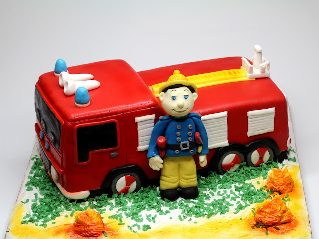 Fire Engine Children's Birthday Cake in London