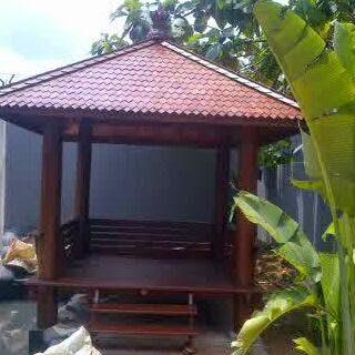 saung gazebo saung kayu kelapa rumah kayu kelapa