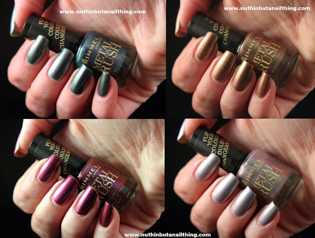 Rimmel Metal Rush Swatches