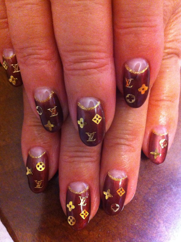 e927nails: Louis Vuitton nails & Chanel nails