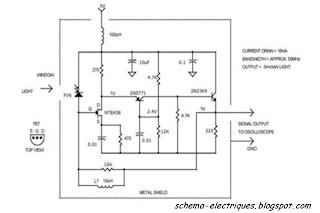 Entr e fet d tecteur haute vitesse de la lumi re schema electrique - Schema electrique lumiere ...