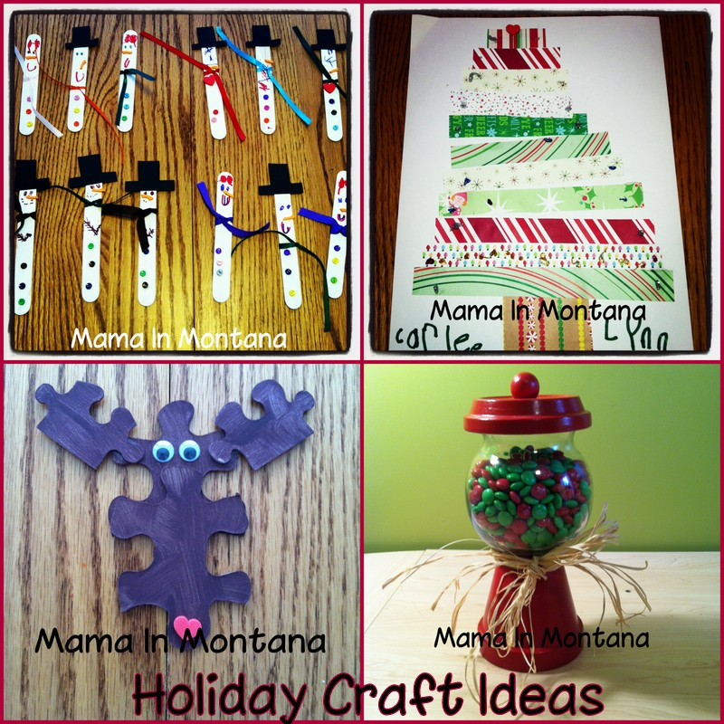 Mama in montana holiday craft projects for Holiday project