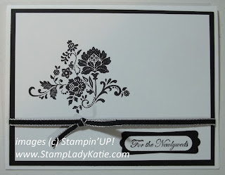 Card made with Stampin'UP! Sale-a-bration stamp set called Fresh Vintage. Card made by StampLadyKatie