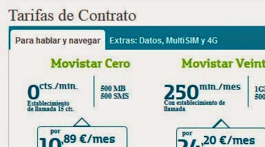 Todas las tarifas de Movistar en abril 2014