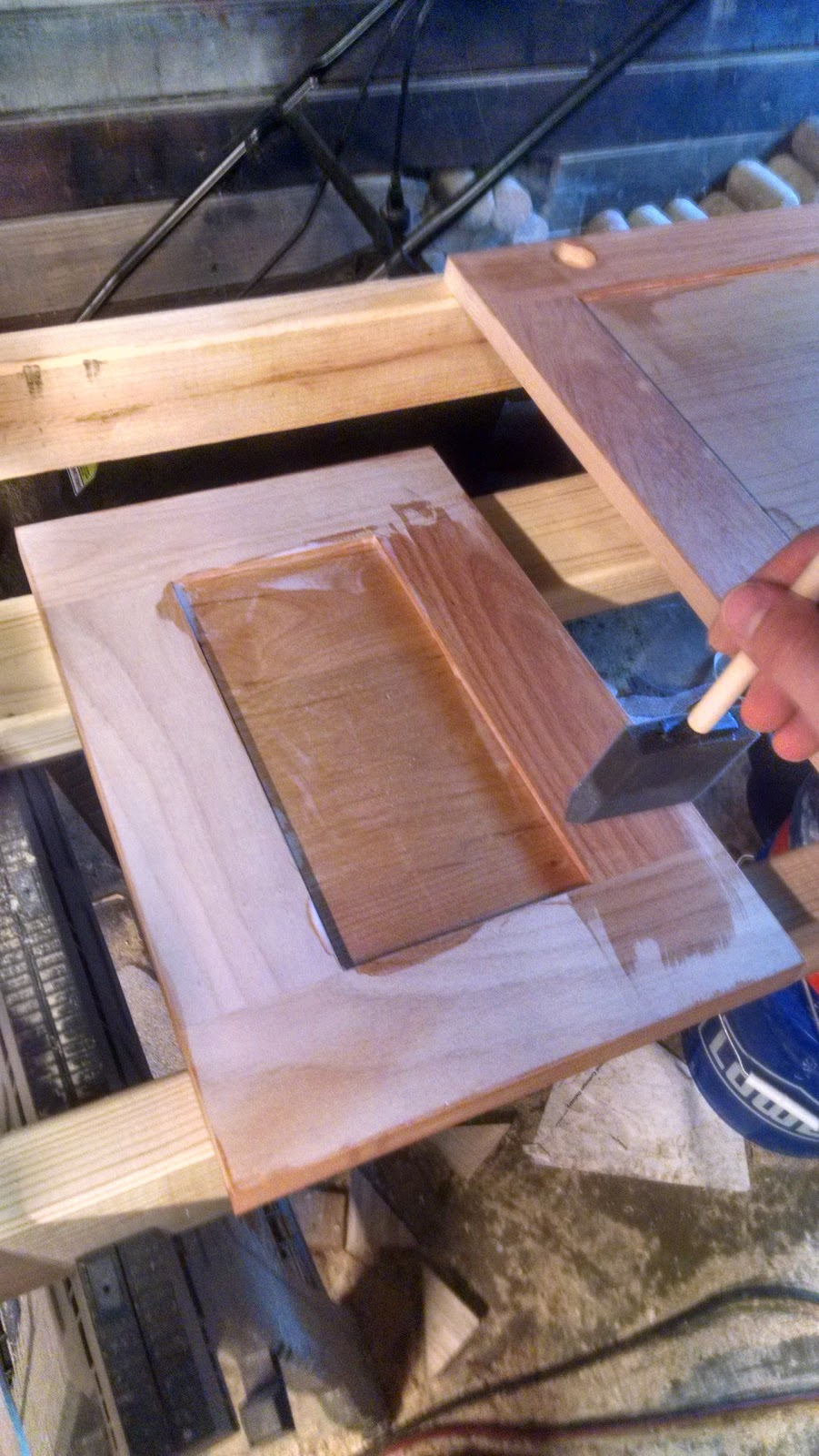 Hog Wild Home How To Poly Cabinet Doors The Right Way