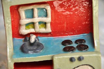 דגם קרמיקה עבור מטבח משחק לילדים