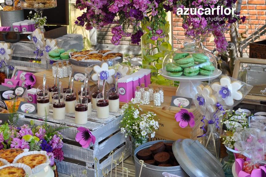 azucar flor party studio mesa de dulces vintage