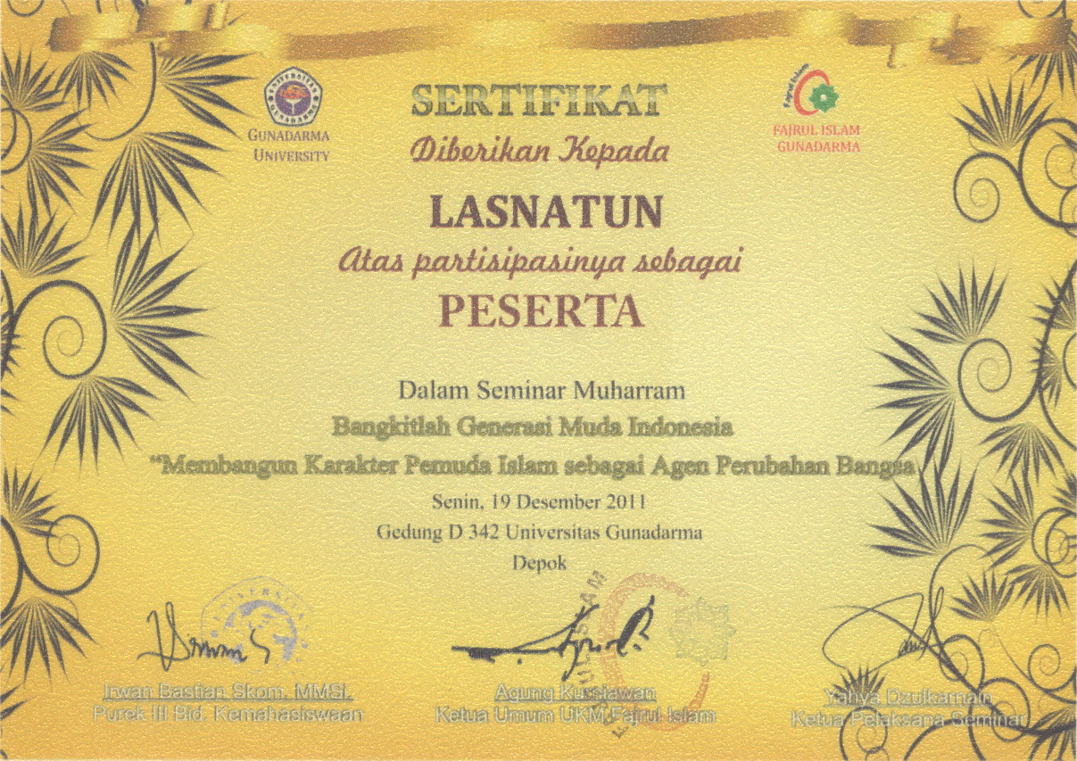 template sertifikat pelatihan
