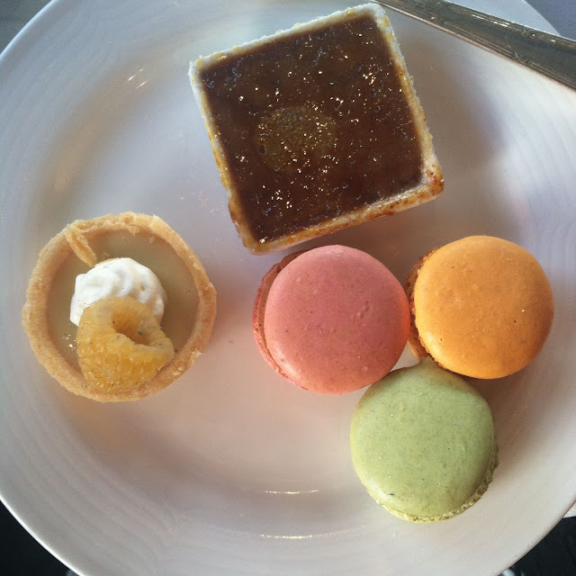 Twice on Top of the World on a Tuesday - macarons creme brulee key lime   Pennies & Paper Blog