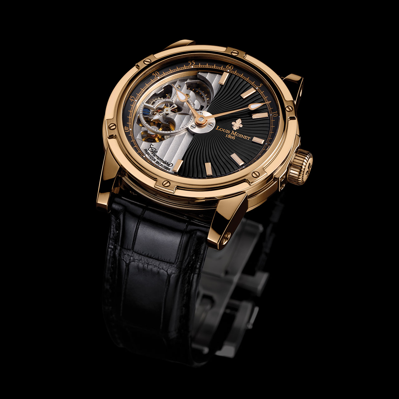 Louis Moinet Mecanograph Mechanical Automatic Watch