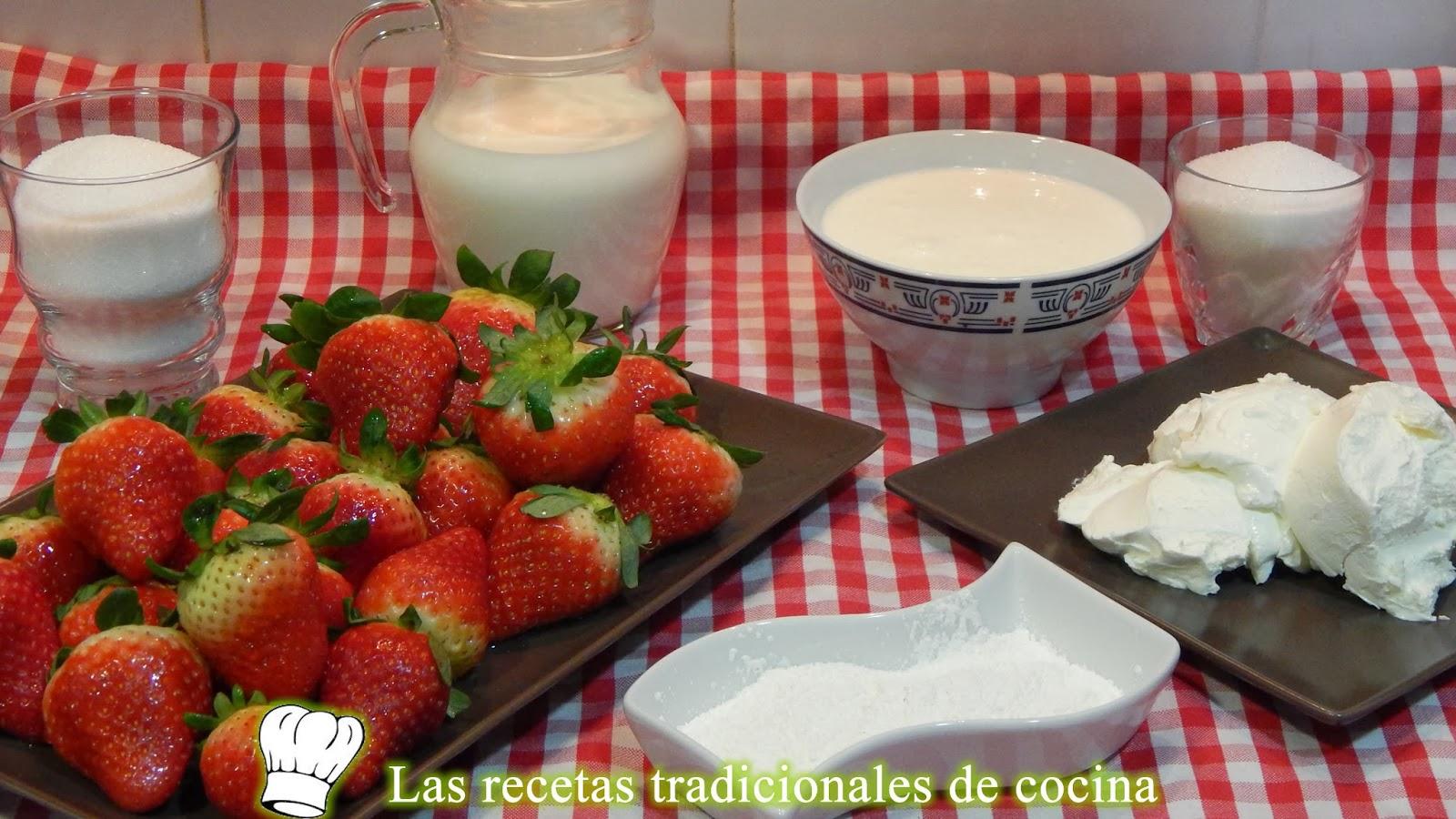 Cómo hacer una tarta de queso y fresas