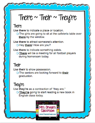 Grammar Tips - Proper usage of There, Their, They're from www.traceeorman.com
