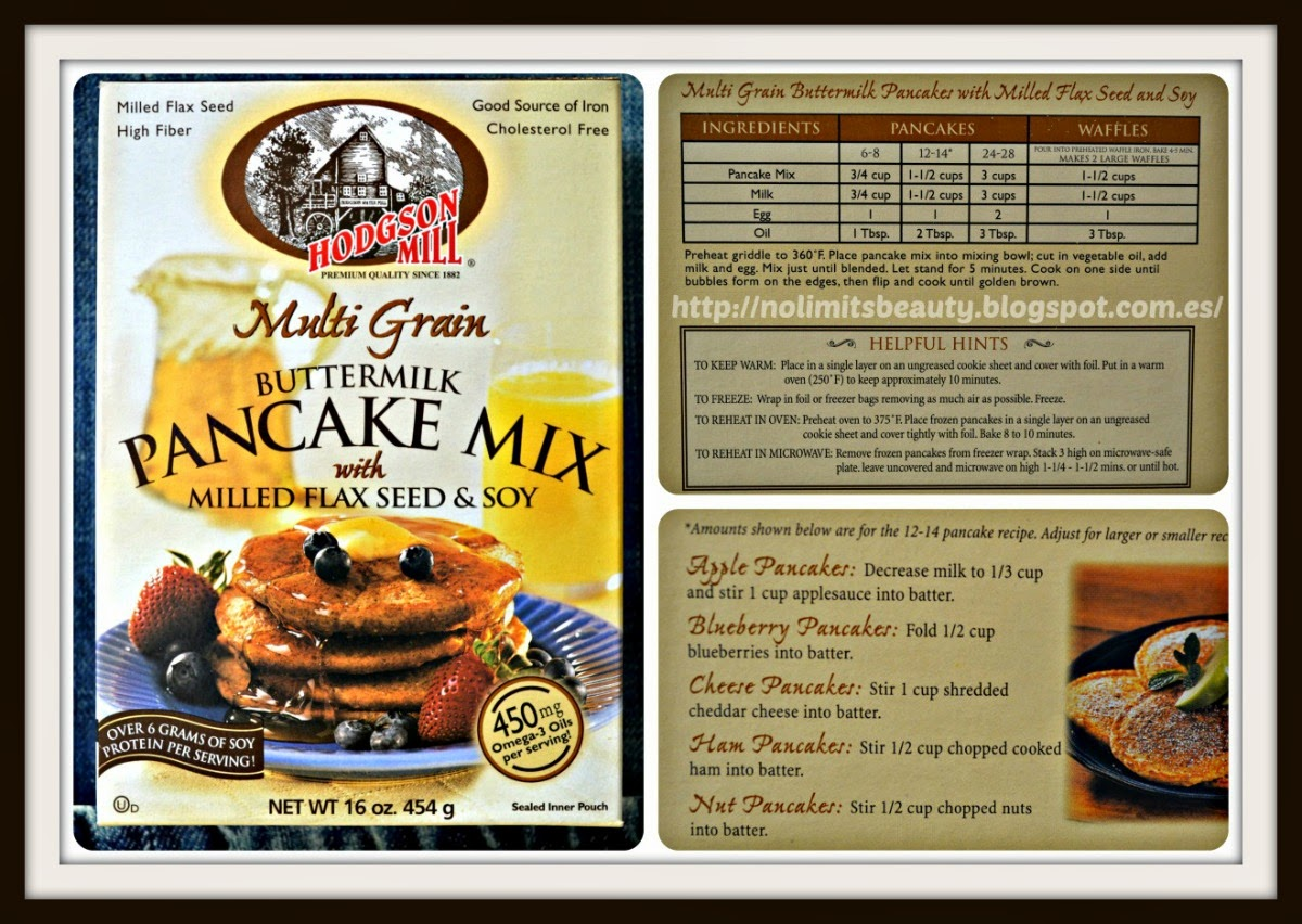 Hodgson Mill, Multi Grain Buttermilk Pancake Mix with Milled Flax Seed Soy, 16 oz (454 g)