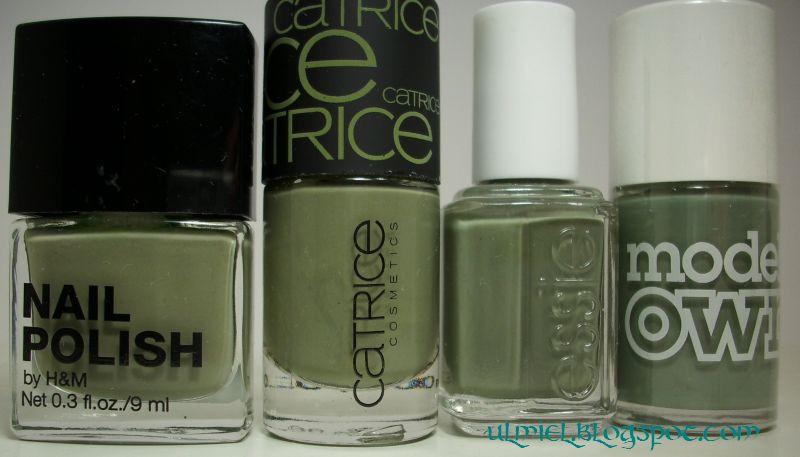 Did someone say nail polish?: Khaki/cool military green comparison: 4