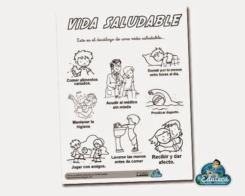 RECURSOS PRIMARIA | Decálogo para una vida saludable ~ La Eduteca