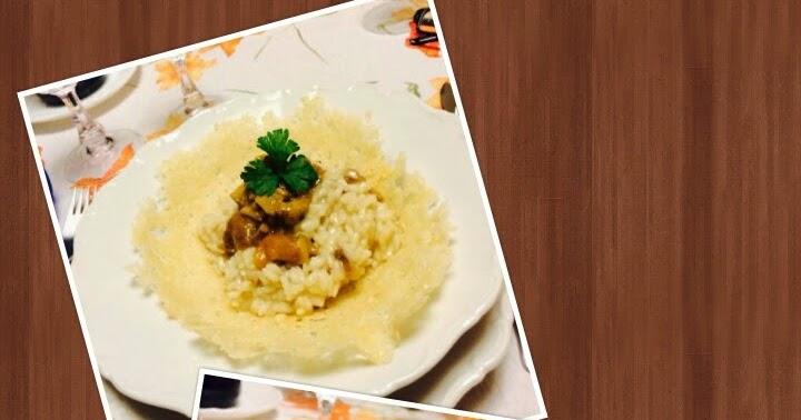 In cucina con zia vale risotto ai funghi in cestino di grana - Cucina con vale ...