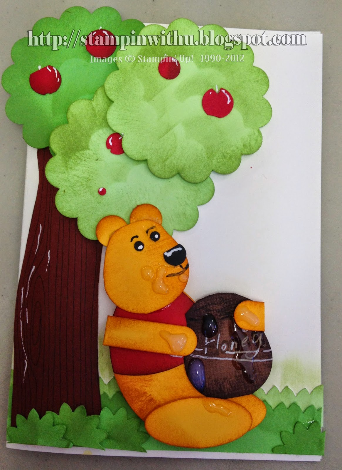 Pooh Bear Under the Apple Tree