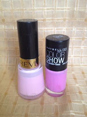 Revlon Pink: Chiffon 911 Maybelline Color Show: Chiffon Chic 160