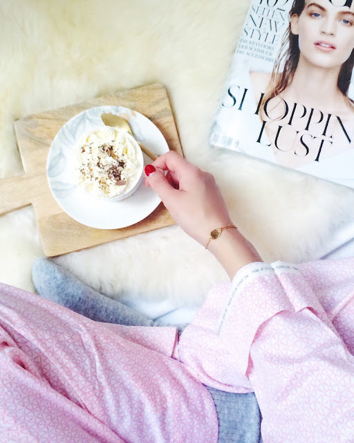 hot chocolate, pj, pink pj, flatlay, sunday's, sundaze