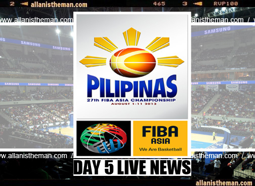 FIBA Asia Championship 2013: DAY 5 Live Game Results