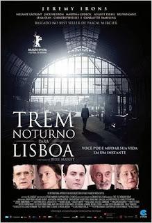 """Poster do filme """"Trem Noturno Para Lisboa"""""""
