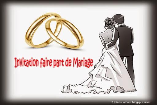 Texte invitation repas de mariage original