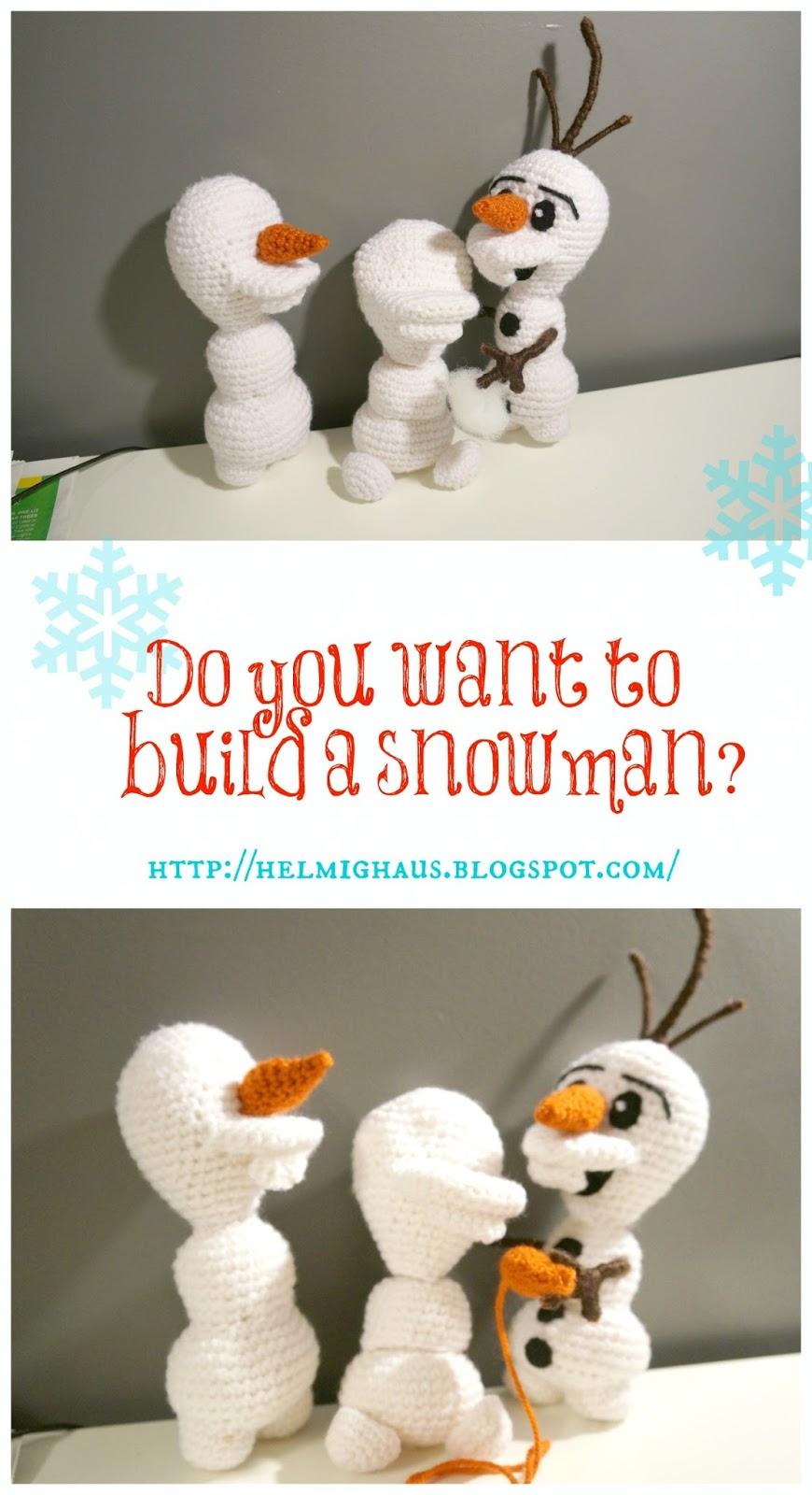 Amigurumi Olaf Tutorial : HelmigHaus: Disneys Frozen Inspired Olaf Amigurumi Doll