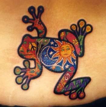 amazing frog tattoo