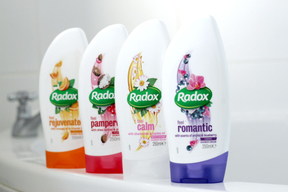 radox creamy range, radox shower gel, shower gel review, radox shower cream