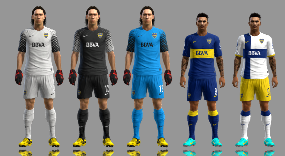 KITSET DO BOCA JUNIORS 12/13 - PES 2013