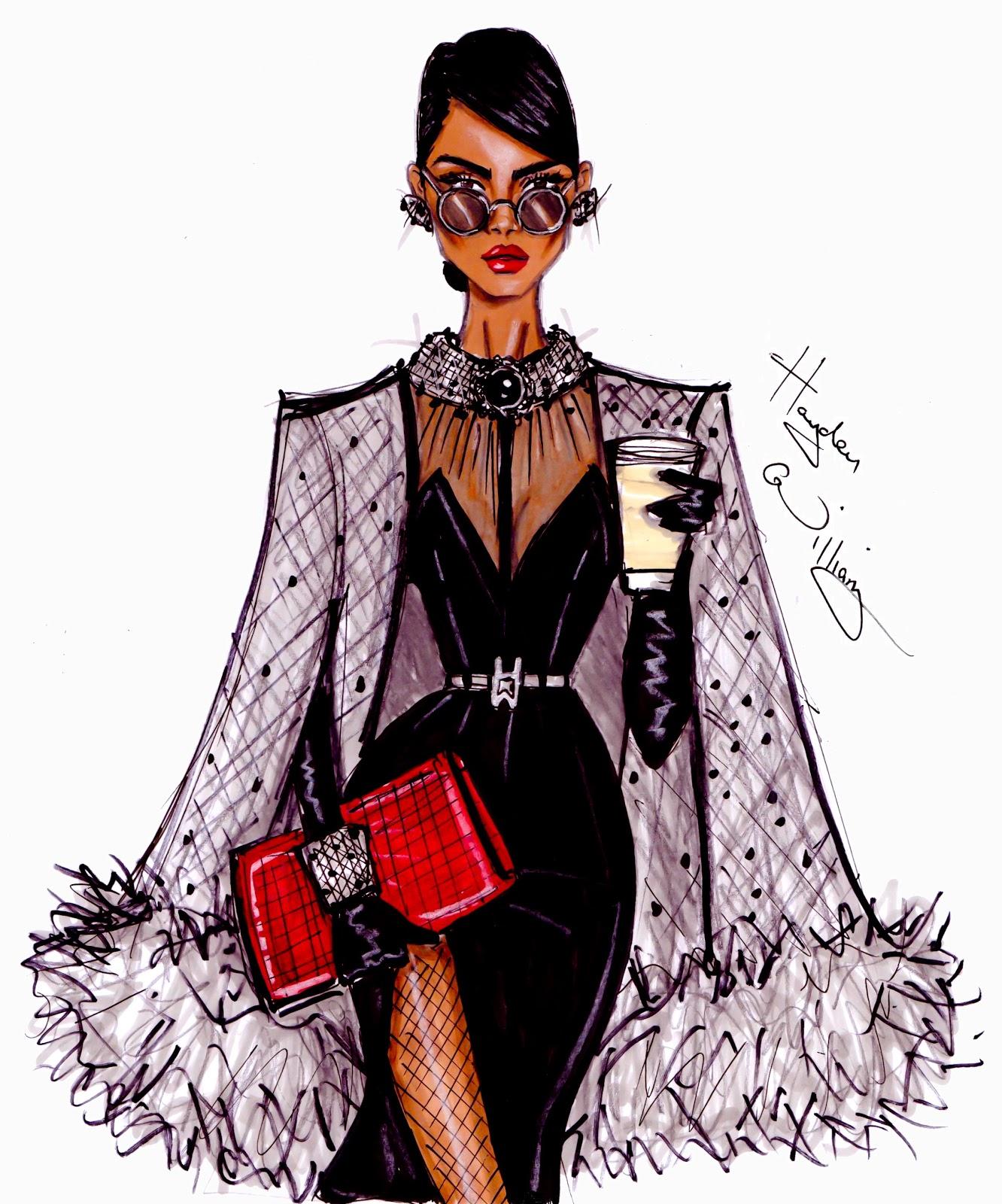 Fashion illustration vogue