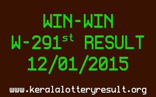 WIN-WIN Lottery W-291 Result 12-01-2015