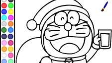 Doraemon Coloring Papa Noel Game Play Online