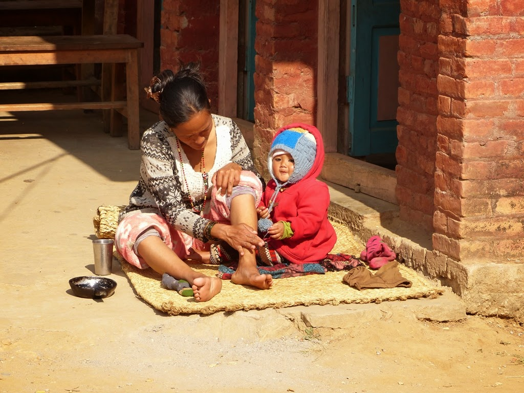 Mother and child, Nepal