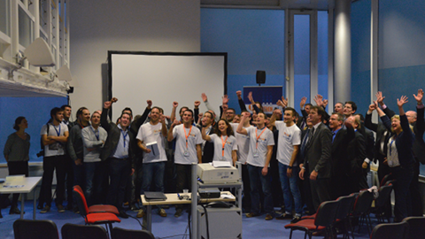 Photo de groupe du hackathon