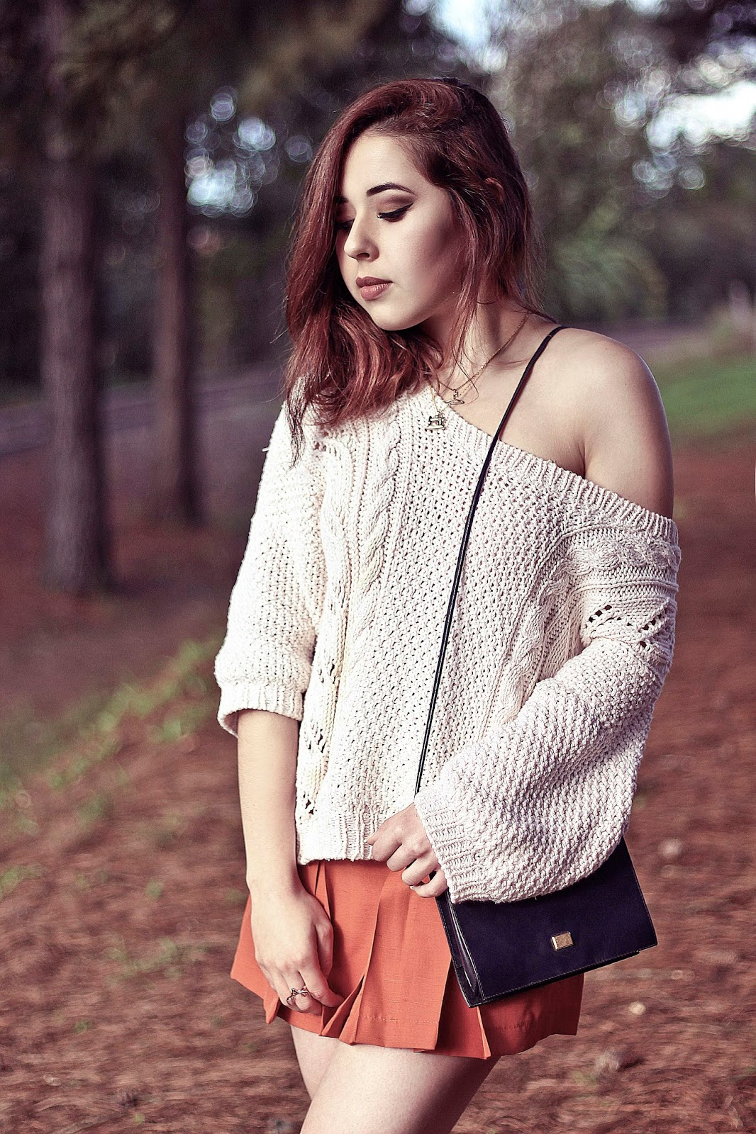 brazilian connection, Gabriela Souza, dumond, ootd, outfit, brazil, fashion, flared skirt, knitting, tricot, key piece, winter, culture and trend