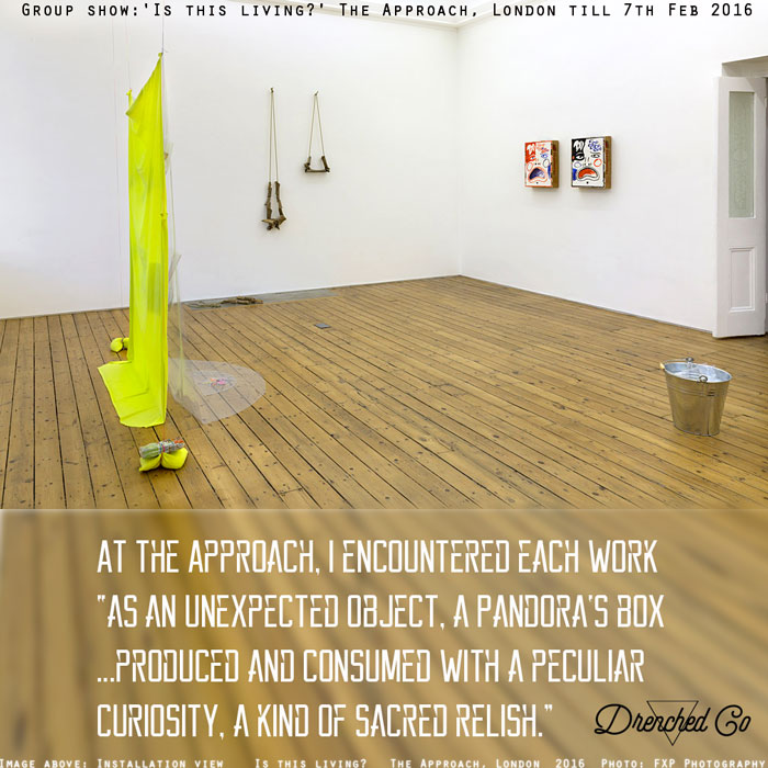 Image of The Approach, London with art exhibition review by Drenched Co.